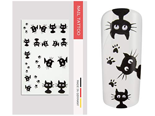 NailArt Tattoo Katze - NAIL ART Nagel Kunst Naildesign