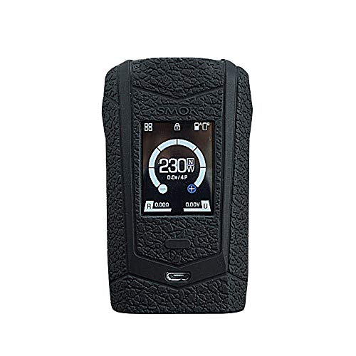 DSC-Mart Texture Silicone Case for SMOK Species 230W Touch Screen TC Kit, Anti-Slip Cover Sleeve Wrap Fits Smok Species (Black)