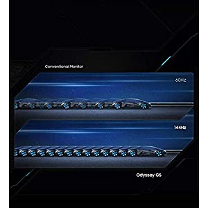 SAMSUNG 32-Inch G5 Odyssey Gaming Monitor with 1000R Curved Screen, 144Hz, 1ms, FreeSync Premium, QHD (LC32G55TQWNXZA), Black