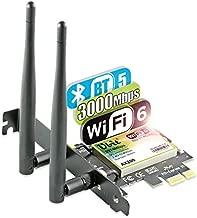 Ubit AX WiFi Card WiFi 6 Dual Band 3000 Mbps AX200 PCIE Wireless WiFi Card with Bluetooth 5.1 | MU-MIMO| OFDMA| Ultra-Low Latency(Supoort Win 10 64bit only)