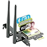 Ubit WiFi 6 Scheda di Rete 2974Mbp/s Adattatore Wireless PCI Express AX200 Bluetooth 5.0 |...