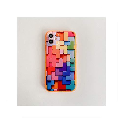 Linda pieza geométrica color carcasa del teléfono para iPhone -FR673-3-For-iPhone7Plus