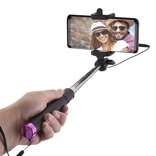 Power Theory Selfie Stick with Cable - [Battery...