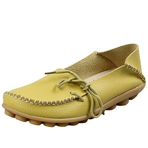 Vogstyle Damen Casual Slipper Flatschuhe Low-top Schuhe Erbsenschuhe Art 1 Apfelgrün 39