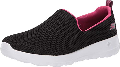 Skechers Women's GO Walk JOY-15637 Sneaker, Black/hot Pink, 8.5 M US