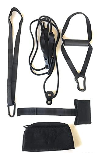 Kit de Entrenamiento en Suspension con polea giratoria Tipo T con Soporte de Puerta y Vigas Suspension Trainer Fitness en casa o al Aire Libre