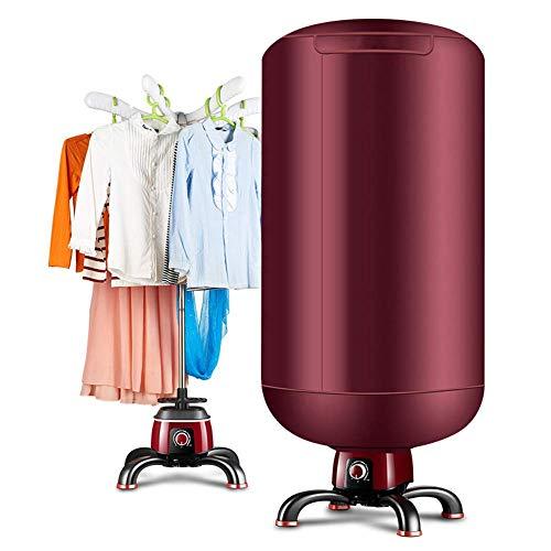 ZYX Séchoir électrique- Support de séchage Chaud de Machine de Garde-Robe de séchage Rapide portatif pour la Maison et Les dortoirs,Red