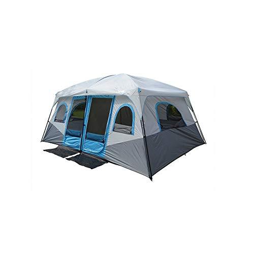 LaMei Yang Panorama-Oberlicht Zweizimmer-Doppeltürzelt Großes Campingzelt Großes Familienzelt im Freien 8 10 12 Personen Partyzelt Wasserdichtes Zelt Zelt