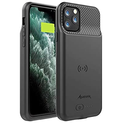 Alpatronix Battery Case for iPhone 11 Pro Max (6.5 inch), 5000mAh Slim Portable Protective Extended Charger Cover with Qi Wireless Charging Compatible with Lightning Audio - BX11 Pro Max - (Black)