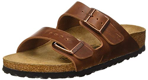 BIRKENSTOCK Sandales Arizona Cuir Gras Antique Brown, Unisex Adults' Sandal, Antique Brown, 10.5 UK (45 EU)