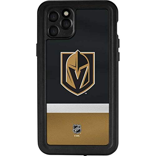 Skinit Waterproof Phone Case for iPhone 11 Pro Max - Officially Licensed NHL Vegas Golden Knights Jersey Design