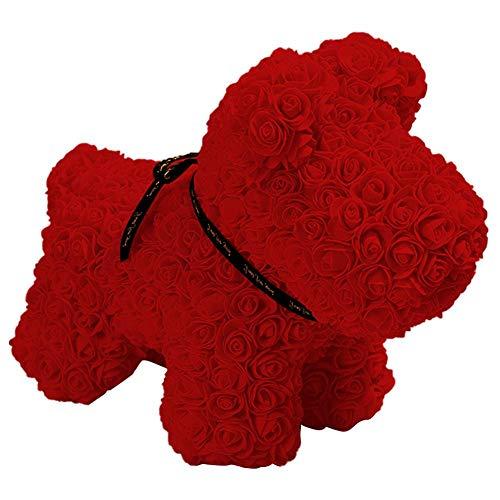 Renoble Unsterblicher Rosen-Hund Künstlicher Rosen-Hund Handgemachter Rosafarbener Hund Viele Farben Zur Auswahl, Schöne Geschenke Für Hochzeiten, Geburtstage, Valentinstag, Jubiläum Convenient
