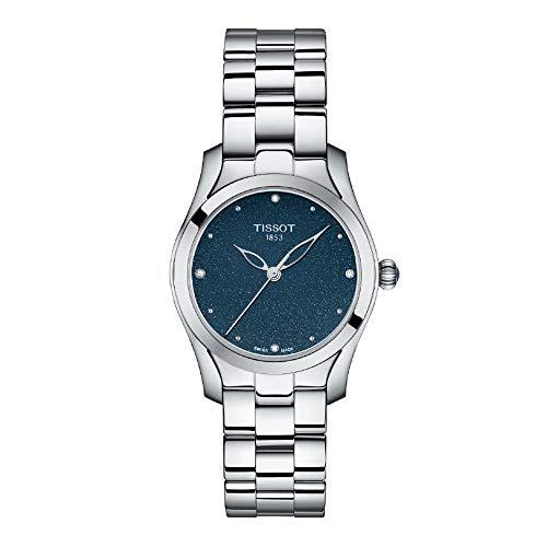 Tissot T-Wave/orologio donna/quadrante blu/cassa e bracciale acciaio
