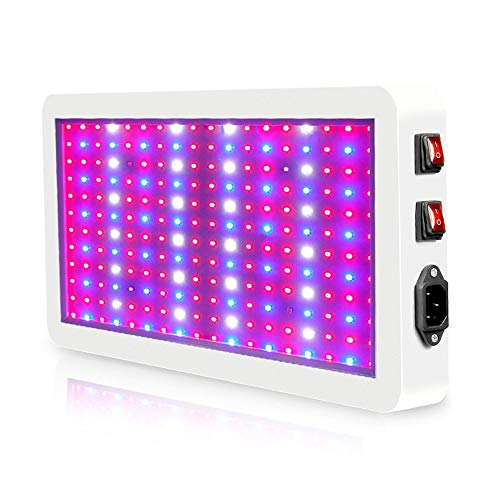 ZMHS LED Grow Light, Double Switch Three-mode Waterproof Phytolamp, Light Quantum Board Plant Lamp, 85-265V Full Spectrum Plant Lighting, for Indoor Plant Greenhouse Grow Tent,1000W