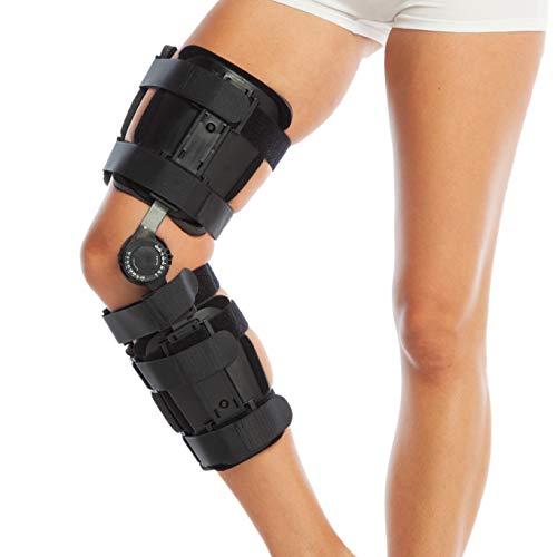 ROM Verstellbare Kniebandage, zur Stützung der Knie, nach Op Scharnier, ausziehbare Universal-Beingröße