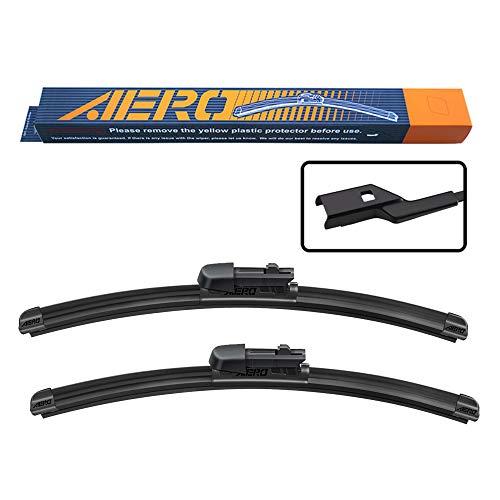 "AERO Premium All-Season Beam Windshield Wiper Blades Replacement for Chevrolet Chevy Equinox 2016-2010 24""+17"" PTB Top Lock 19mm (Set of 2)"