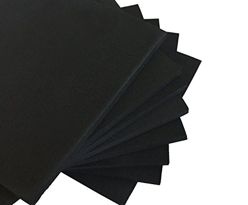 """XCEL Value Pack, Closed Cell Foam Rubber Antivibration, Acoustic Damper 6"""" X 6"""" Pad 8 Pieces, Made in USA"""