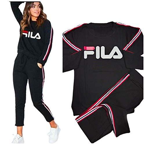 Cotton RIB Track Suit for Women/Girls (Night Dress) (Black, XL)