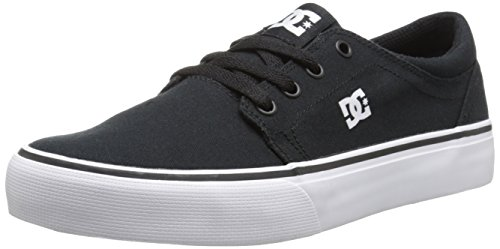 DC Shoes Trase Tx - Zapatillas de deporte de canvas para niño, color negro Noir (Black/White), talla 30