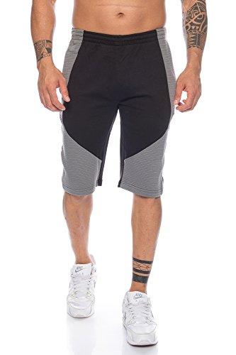 Raff & Taff Herren Shorts Zweifarbig  Kurze Hosen für Sport Fitness Gym  Kurze Hosen für Sport Fitness Gym Trainingshose   Sommer Hose Kurze Hosen (L, Sch./Anth.)