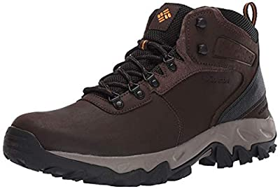 Columbia mens Newton Ridge Plus Ii Waterproof Hiking Boot, Cordovan/Squash, 7 US