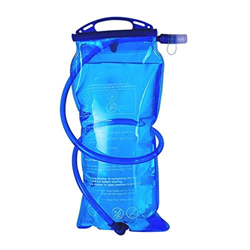 XBJSY 1L / 1.5L / 2L Ciclismo al Aire Libre Running Bolsa de Agua Plegable Paquete Bolsa de Almacenamiento Running Hydration Water Vejiga Chaleco Mochila SNGLZ (Color : 2L(355x175x10mm))