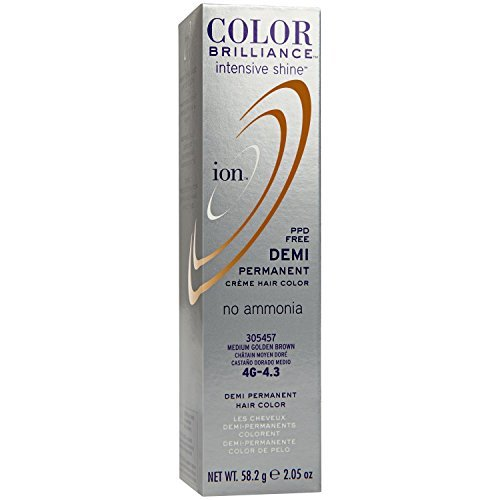 Intensive Shine 4G Medium Golden Brown Demi Permanent Creme Hair Color by Ion
