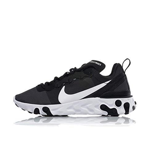 Nike React Element 55 Damen Schuhe,Schwarz (Black/White 003), 38.5 EU