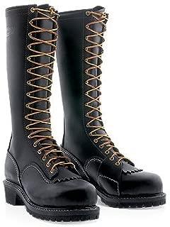 """Wesco Voltfoe 16"""" Black work Boots - Composite Toe 109 Vibram sole (12 D US men, Black)"""