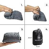 BERGBRUDER Komprimierbares Reisekissen - Nackenkissen aus zerkleinertem Memory Schaum - Outdoor Camping-Kissen weich, Ultraleicht & kompakt - 5