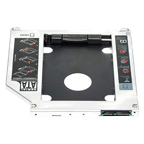 2.5' 9.5mm SATA 2nd HDD SSD Hard Drive Caddy Adapter For MacBook Pro Unibody A1278 A1286 A1297 CD ROM Optical Bay