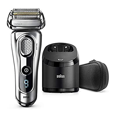 Braun Series 9 Electric Shaver for Men 9292 cc, Wet and Dry, Integrated Precision Trimmer, Rechargeable and Cordless Razor with Clean and Charge Station and Travel Case, Silver from Procter & Gamble