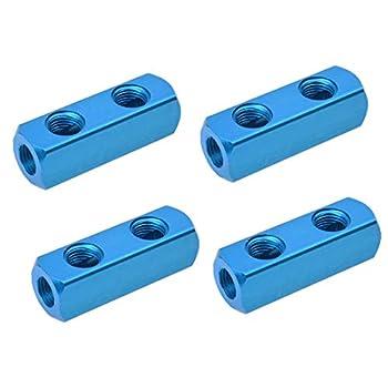 S SYDIEN 4 Pcs 1/4  PT Threaded 2 Way 5 Port Pneumatic Manifold Block Splitter Quick Connect Air Compressor Hose Inline  2 ways