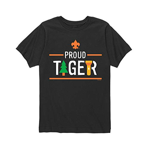 Boy Scouts of America Icon Tiger Cub Scout - Youth Short Sleeve Graphic T-Shirt Black