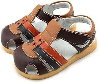 Boys Brown, Camel & Orange Sandal