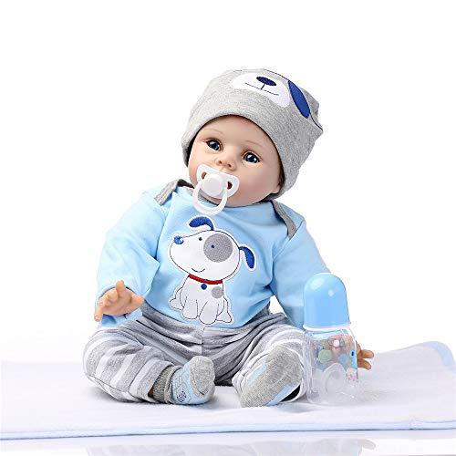 Bonecas Reborn realistas Reborn de silicone macio para meninas, meninos, bonecas Reborn com chupeta magnética grátis