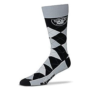 FBF - Las Vegas Raiders Argyle Dress Socks - One Size Fits Most by FBF