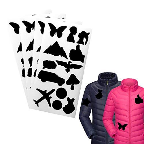 Parche adhesivo Hongfago para reparación de cuero, 4 unidades, parche de nailon, adecuado para agujeros de ropa, saco de dormir o chaqueta de plumón