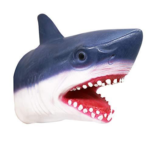 Yolococa Handpuppe Spielzeug,Weiches Gummi Realistischer Haikopf