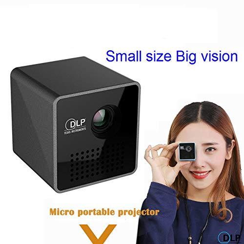 LIBWX Original UNIC P1 + H Plus Proyector móvil inalámbrico Soporte Miracast DLNA Proyector de Bolsillo Proyector de Cine en casa DLP Beamer Batería