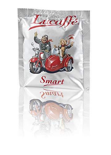 LUCAFFÉ SMART GOURMET Entkoffeiniert, 100 Pads 100% Arabica-Kaffee, Ø35 mm NUR kompatibel mit Smart Pod-Kaffeemaschinen, kompostierbare Papierpads mit süßem Geschmack, dichter Körper