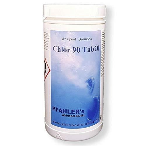 Chlortabletten langsam löslich ChlorTabs 90 Tab 20 Chlortabletten für alle Wasserhärten,Pool Whirlpool, Swim Spa