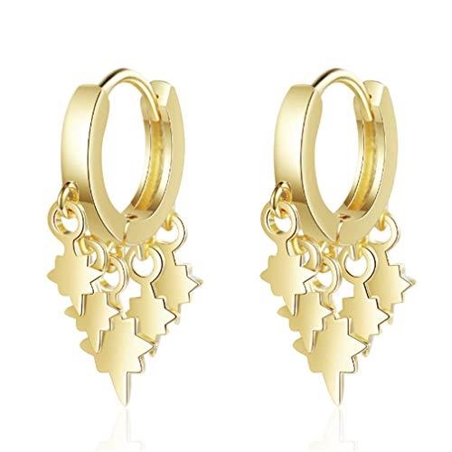 DREZEA. Crystal Earrings Pendant Drop Earrings Star Stud Earring Jewelry Gift for Women