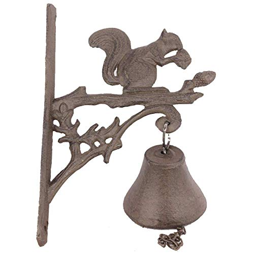 Cast Iron Doorbell Cast Iron Wall Hanging Doorbell Tree Branch Squirrel Shaped Bell Home Decoration For Gates Posts Garden Garden Decoration