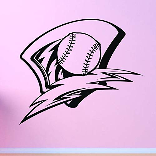 Njuxcnhg Baseball Auto Windows Aufkleber Name Sport Aufkleber Poster Vinyl Wandtattoos Wandaufkleber Dekor Wandbild Baseball Aufklebercm 87x74cm