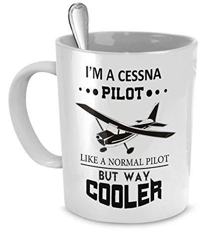 Stuff Cessna Aircraft Taza de caf/é con Leche 11 oz