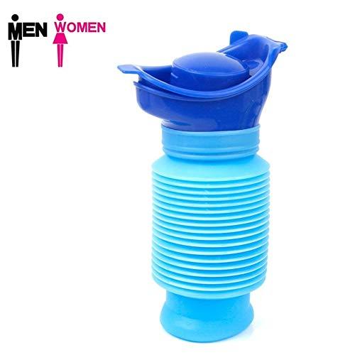 750ml Notfall Urinal, Wiederverwendbare Tragbare Mini Outdoor Camping Reisen schrumpfbare persönliche mobile Toilette, Töpfchen Pee Flasche für Kinder Erwachsene Männer Frauen