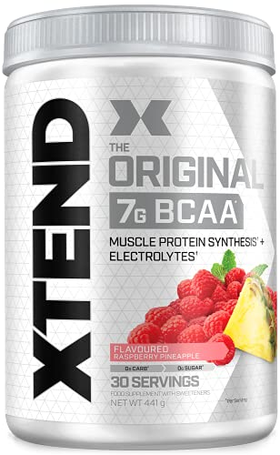XTEND Original BCAA Powder Raspberry Pineapple | Branched Chain Amino Acids Supplement | 7g BCAAs + Muscle Supplements | Electrolytes for Recovery | Amino Energy Post-Workout | 30 Servings