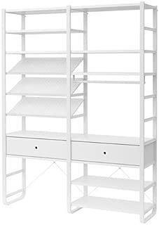 Ikea 2 section shelving unit, white 2386.261120.1820