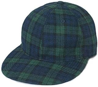 帽子 ベースボール キャップ コットン 本革 アジャスター チェック柄 数量限定 BB556